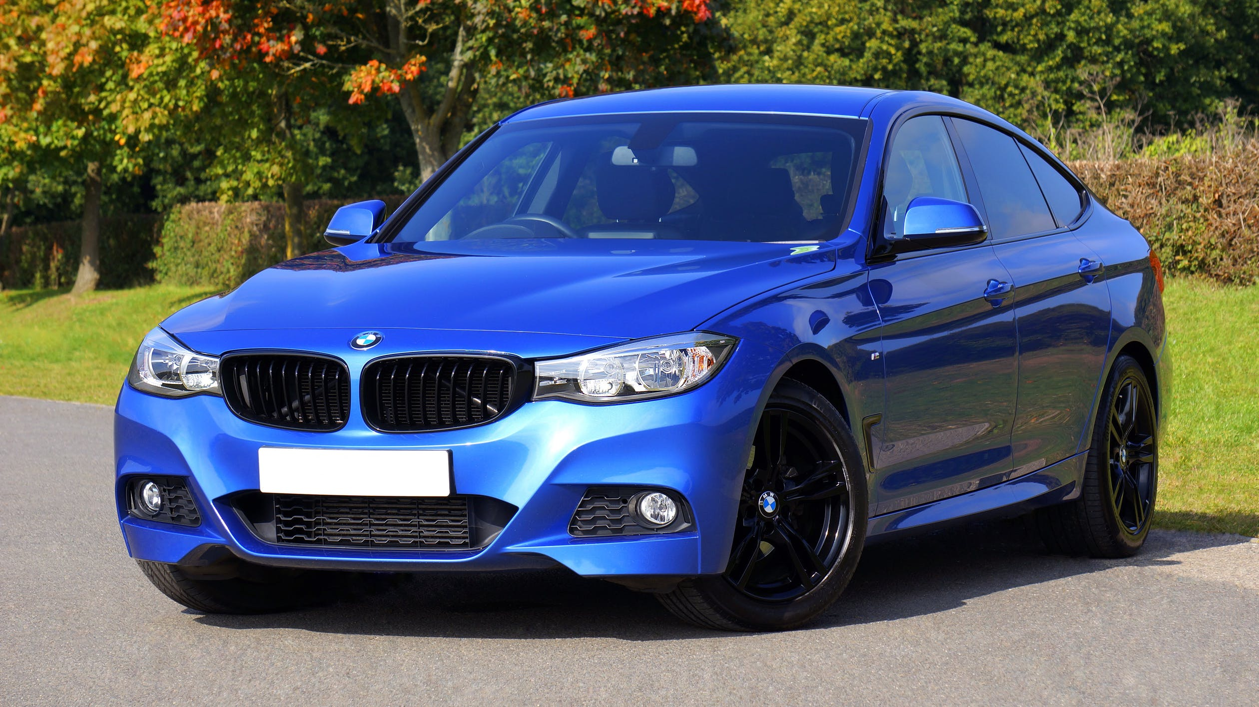 NEW CAR BLUE BMW