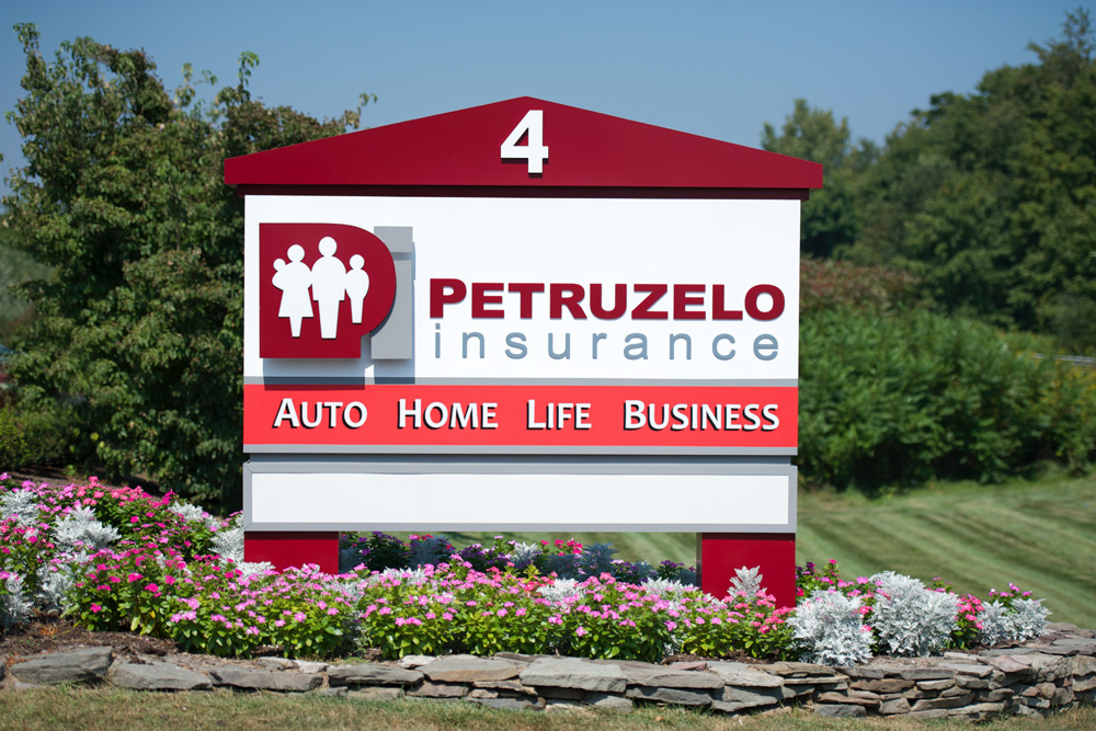 Petruzelo Sign Out in Front of Business