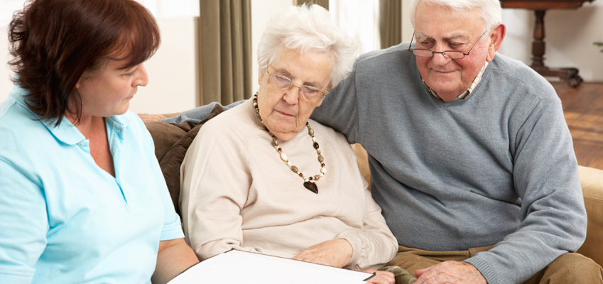 Old People Selecting Long Term Care Insurance