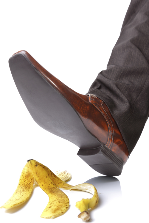 Person Slipping on a Banana Peel