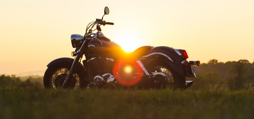 Pic of Motorcycle During Sunset in Field